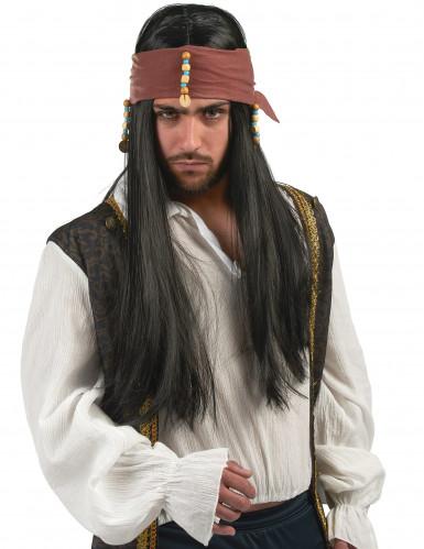 Parrucca pirata con trecce uomo