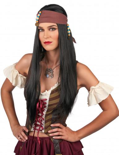 Parrucca pirata con trecce uomo-1