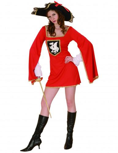 Costume moschettiere rosso donna