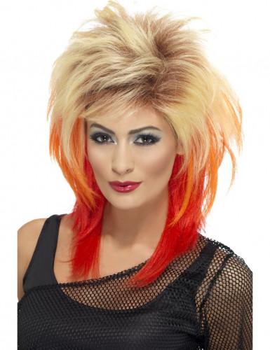 Parrucca rock con punte rosse donna