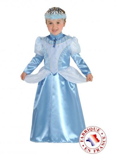 Costume principessa azzurro bambina