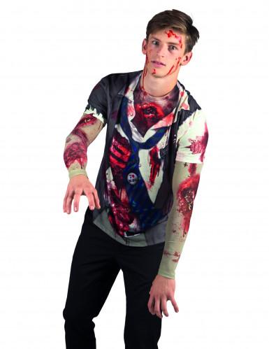 T-shirt zombie adulto