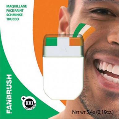 Trucco verde bianco arancione