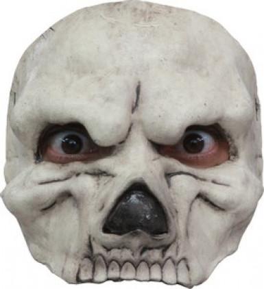 Maschera scheletro bianca uomo