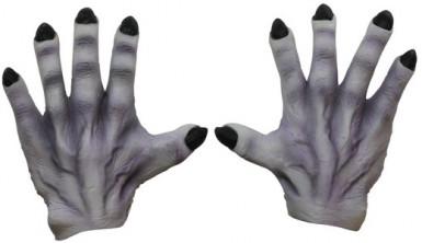 Mani da mostro grigie