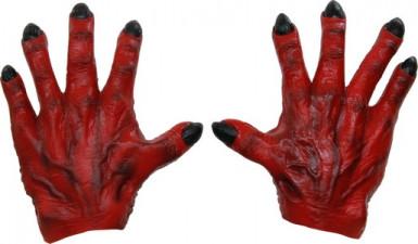 Mani da mostro rosso uomo