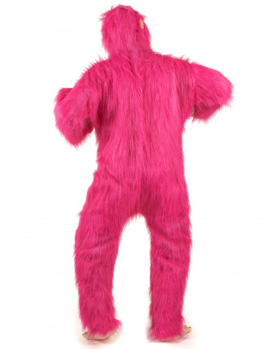 Costume gorilla cool rosa per adulto-2