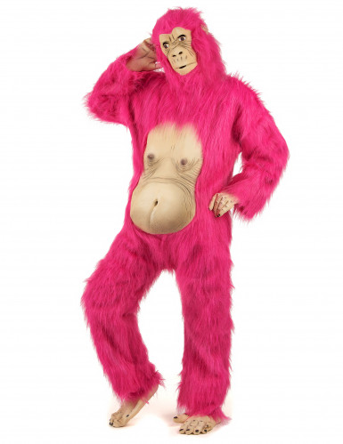 Costume gorilla cool rosa per adulto-1