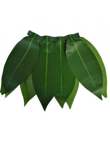 Gonna Hawaiana con foglie verdi bambina