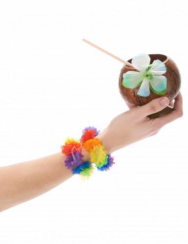 Kit da 2 braccialetti hawaiani multicolori-1