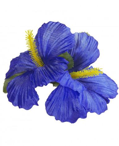 Fermaglio fiore blu scuro-1