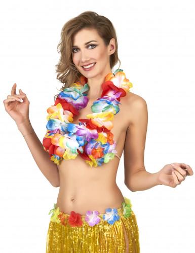 Collana hawaii multicolore lusso-1