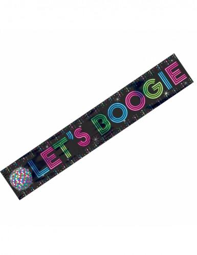Striscione Let's boogie Anni '70