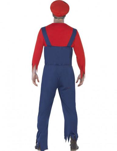 Costume zombie idraulico uomo Halloween-2