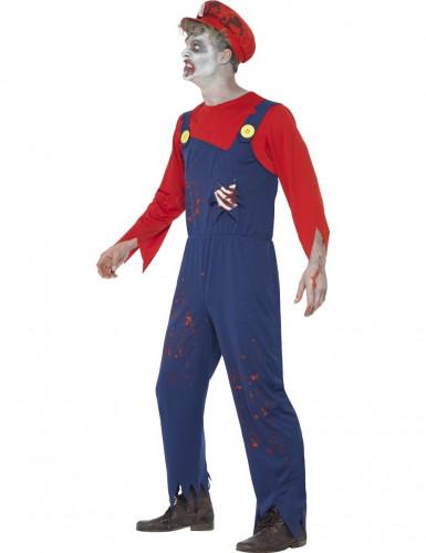 Costume zombie idraulico uomo Halloween-1