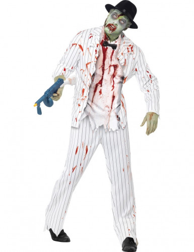 Costume gangster bianco zombie uomo halloween