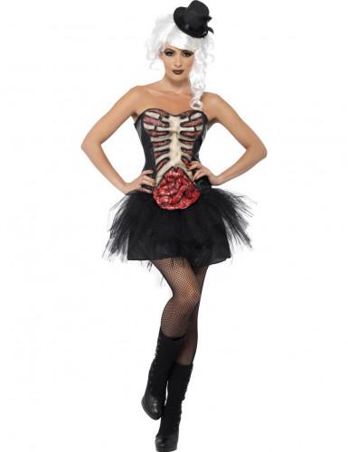 Costume scheletro con tulle donna Halloween