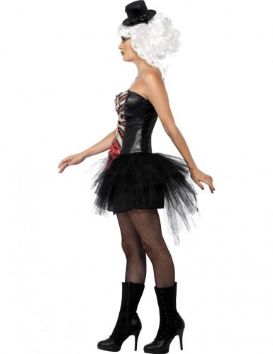 Costume scheletro con tulle donna Halloween-1