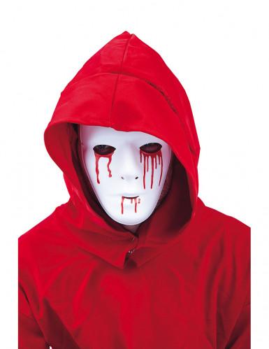 Maschera lacrime insanguinate uomo
