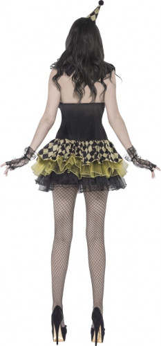 Costume clown zombie donna Halloween-2
