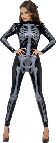 Costume scheletro nero sexy donna Halloween