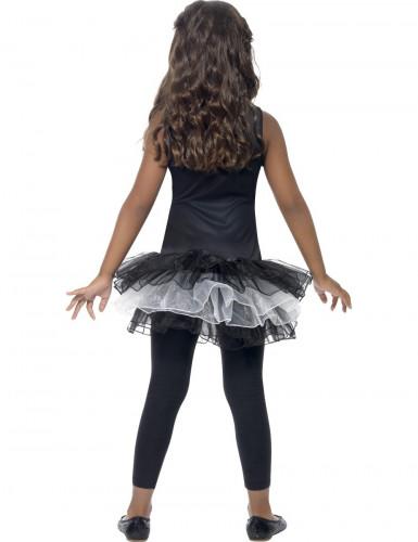 Costume scheletro bambina con tutù-2