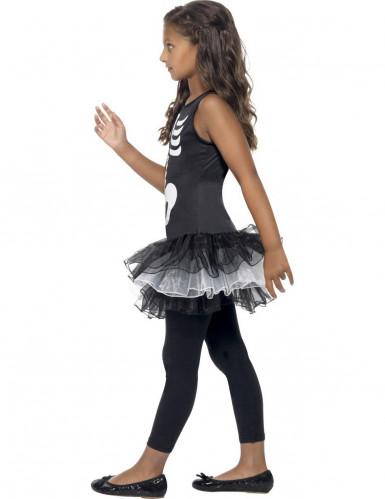 Costume scheletro bambina con tutù-1
