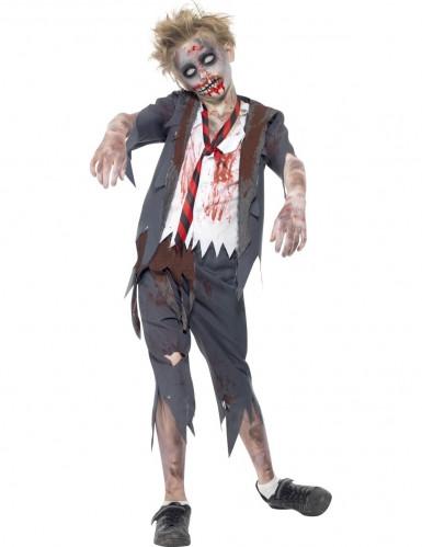 Costume zombie studente bambino Halloween