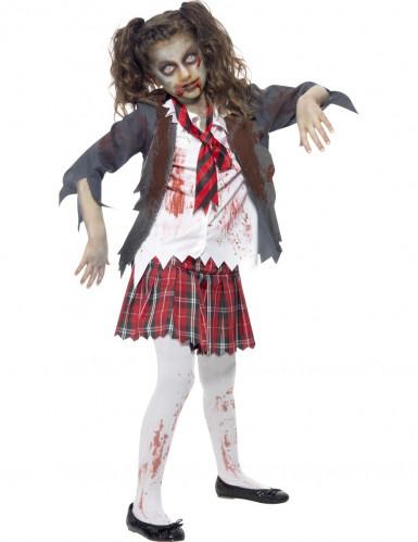 Costume da scolaretta zombie bambina Halloween