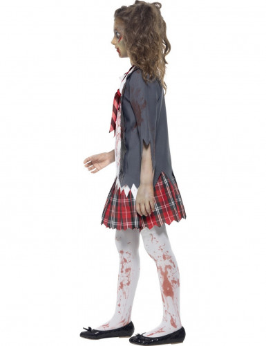 Costume da scolaretta zombie bambina Halloween-1
