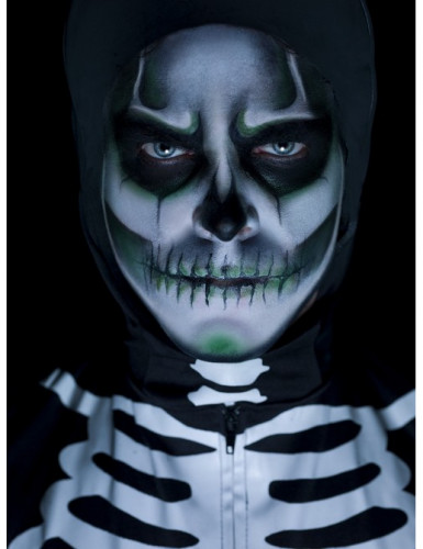 Kit trucco da scheletro fosforescente Halloween-1