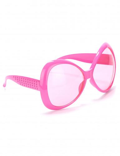 Occhali rosa disco adulto