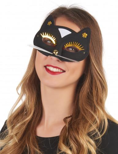 Maschera gatto nero adulto