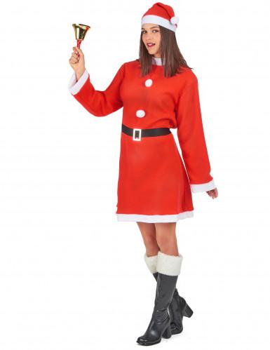 Costume da Mamma Natale con pompon-1