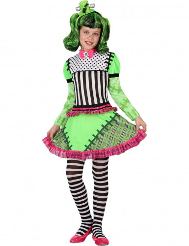Costume mostro verde bambina Halloween