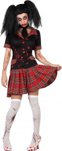 Costume scolara insanguinata donna Halloween
