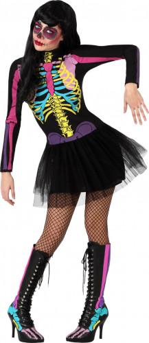 Costume scheletro colorato Halloween