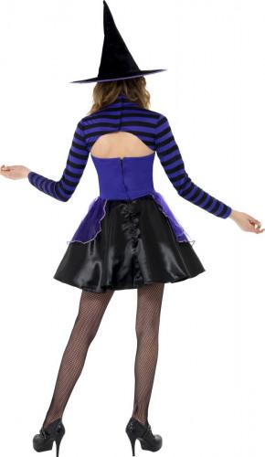 Costume da strega viola e nero da ragazza-2