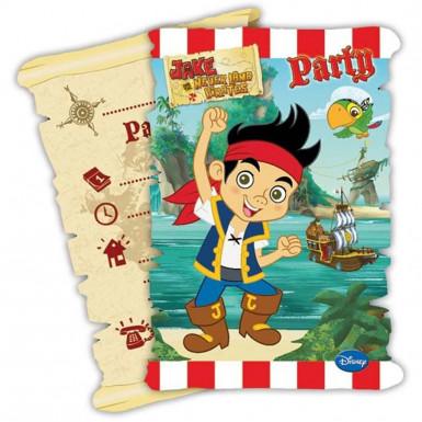 6 Cartoncini d'invito Jake e l'Isola dei Pirati™