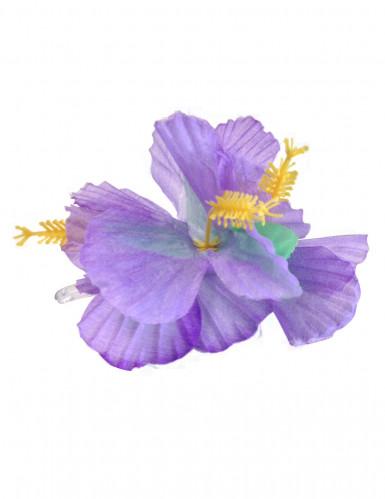 Fermaglio fiori viola Hawai