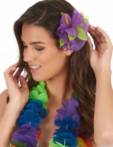 Fermaglio fiori viola Hawai-1