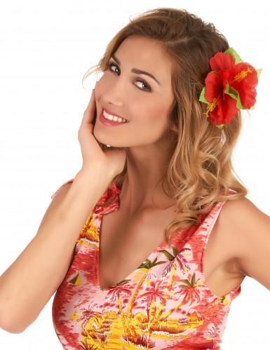 Fermaglio fiori rossi Hawai