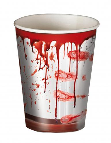 8 Bicchieri insanguinati Halloween