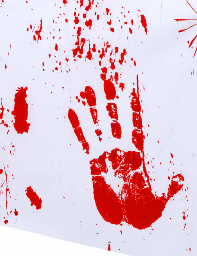 Tovaglia mani insanguinate Halloween-1