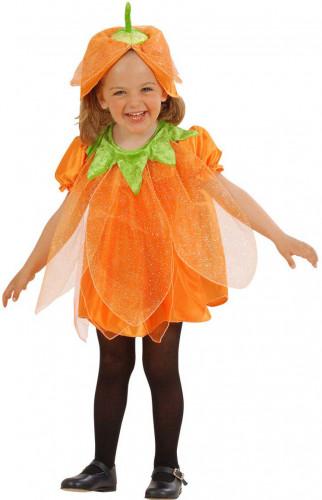 Costume zucca con paillettes bambina Halloween