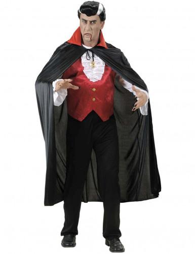 Mantello vampiro con colletto rosso per adulto