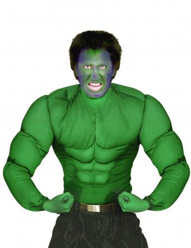 Maglia verde con muscoli uomo