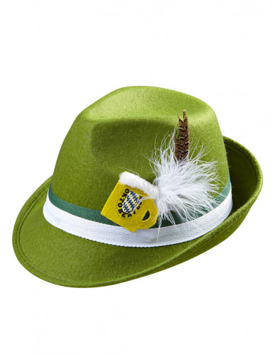 Cappello bavarese verde adulto-1