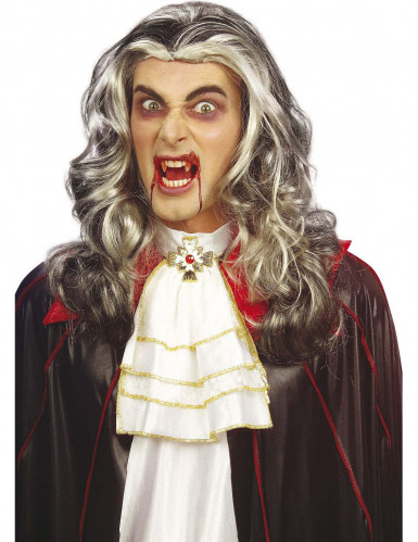 Parrucca vampiro bicolore adulto Halloween