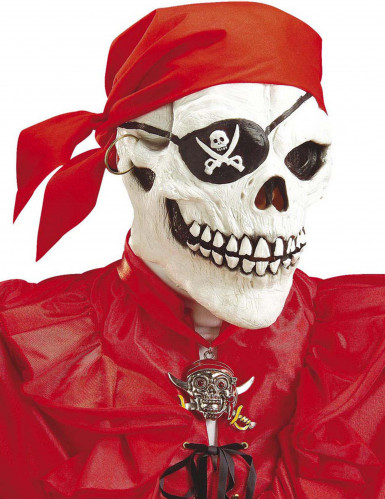 Maschera integrale pirata adulto Halloween
